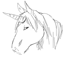 Unicorn Sketch by xBlueFootx