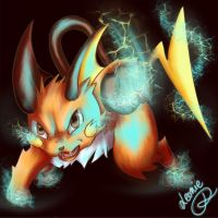 Raichu! Use Thunder Punch! by Lilobug
