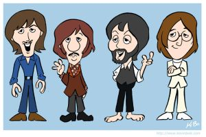 The Beatles Cartoon 1970 by kevinbolk