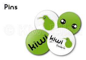 Kiwi pins by Elichan83