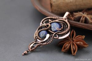Copper pendant by Schepotkina