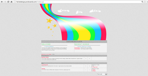 Starry Rainbow Forum Design by tahbikat