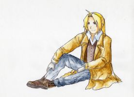 Watercolor Edward Elric by Liath-R