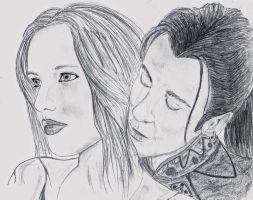 Portrait Iavera and Dracula by CharlotteElbourne