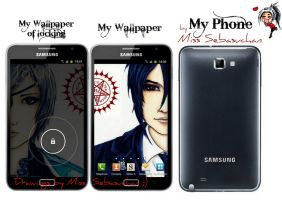 My Phone, My Lovely Wallpapers by MissSebasuchan