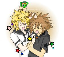 Roxas and Sora - Skittles by shirononekojin