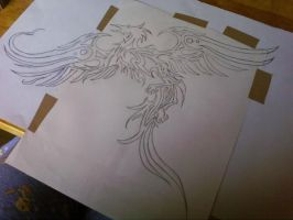 Tribal Phoenix Tattoo Design by AngelesEvalion