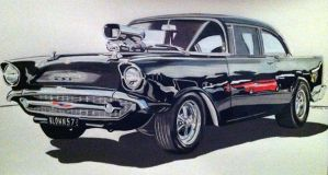 57 chev running on empty blown by domrexsin