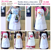 Kawaii aprons by tho-be