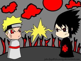 Chibi Naruto And Sasuke by johnlloydbalucanag