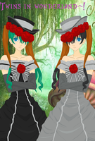 Twins in Wonderland~! - Natalie and Kathrine by Katie-Kimii