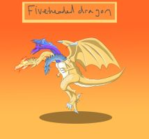 Five-Headed Dragon by Louisetheanimator