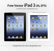 Free Vector iPad 3 Ai Eps by Designbolts