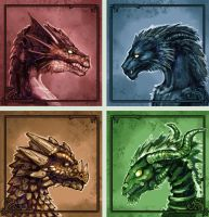 The Many faces of Dragons by Minionslayer