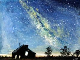 Abandoned Under the Milky Way by ThisArtToBeYours