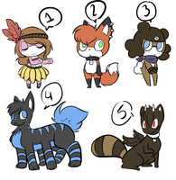 Another Batch Of Adopts [Closed] by HaruKitsu