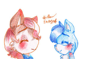 Sally and Chloe by Hollsterweelskitty