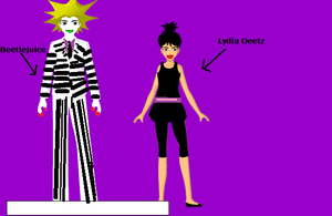 Custom Anime Beetlejuice and Lydia. by Smurfette123
