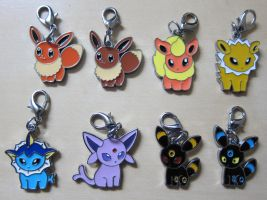 Pokedoll Style Charms: Full Eevee Set by winter-wish