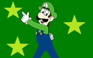 Luigi's Handsome Pose! by PuccadomiNyo