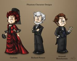 Phantom Character Designs Part 3 by DarthxErik