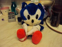Sonic The Hedgehog Plushie by DazzyDrawing