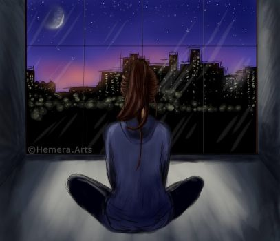 girl in thoughts by Hemera-Arts