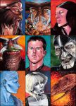 Farscape sketch cards by febbik