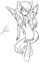 Sage - Pegasus Pony Anthro Ink by Zorouacacid by SEMC