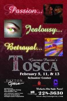 Tosca Promo Poster by DCJaxDesign