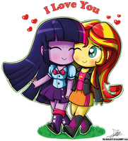 .:Love Equestria Chibis:. by The-Butcher-X