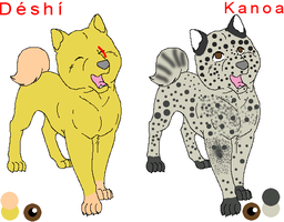 Deshi and Kanoa updated ref sheet by LOST09