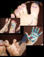 my hand and feetses hahahaha by Rianamix