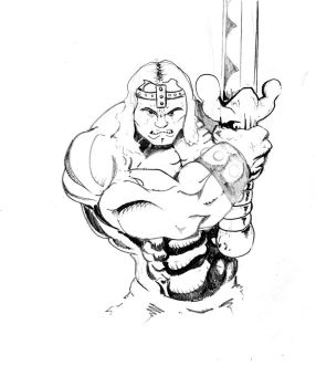 Conan the barbarian by andrew-henry