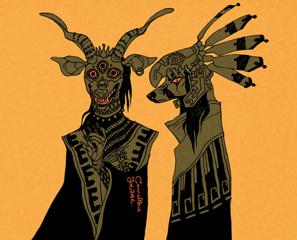 Shrinekeepers by CanisAlbus