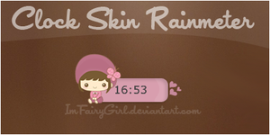 Clockcute skin rainmeter by Imfairygirl