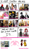 Cross Over Couples Meme by KPenDragon