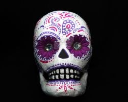 Sugar Skull with flowers by shelostit