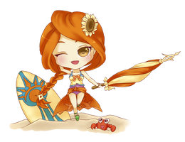 Pool Party Leona by yuki23onna