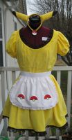 Pikachu Maid Front by SailorEarth316