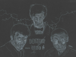 Doctor Who wallpaper - White pencil on black card. by Laurenthebumblebee