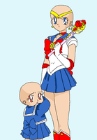Sailor moon and Little girl base by HeroHeart001