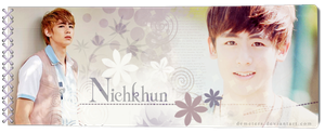 2PM s Nichkhun Signature Banner by demeters