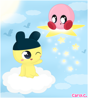 Mametchi and Kirby by Carol2015