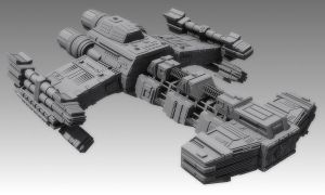 New Battlecruiser - untextured by SgtHK
