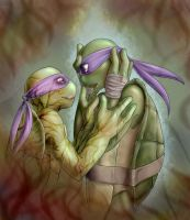 Broken - Donatello by Blackdragon-sama