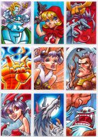 Darkstalkers Sketchcards part 2 by Chad73