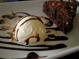 Brownie Pie with Icecream by emmatson