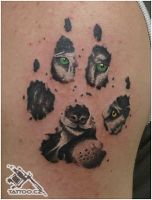 Wolf footprint tattoo by RobinCZ