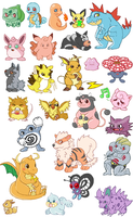 old pokemon drawings by SadEyEdoLL